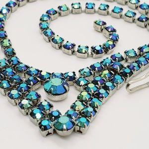 🆕️💎•VINTAGE•blue ab stones • unsigned beauty!💎